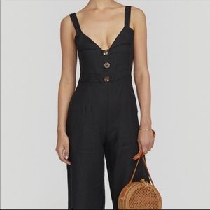 FAITHFULL The Brand Scout Jumpsuit in Plain Black